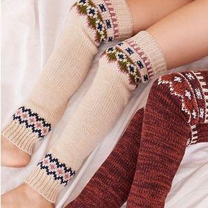 Free People NEW Fairisle Knit Legwarmer